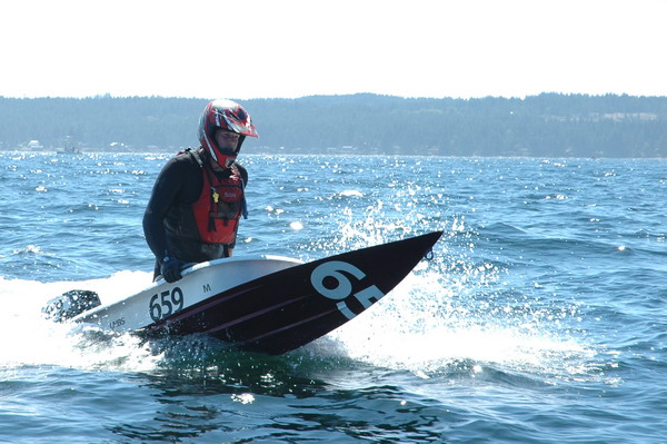aggressive salmon fiberglass bathtub race boat
