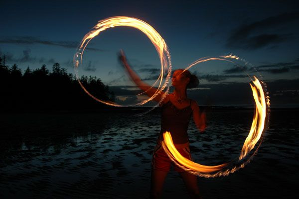 fire spinning willow chandler poi cape scott trail