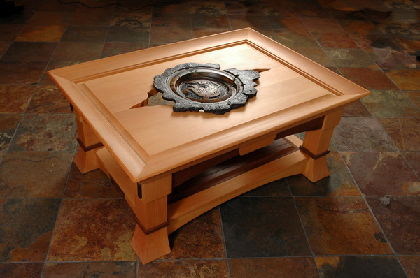 galen mongeau woodwork carved table