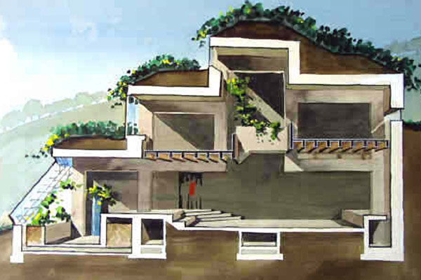 malcolm wells earthen architecture bermed house