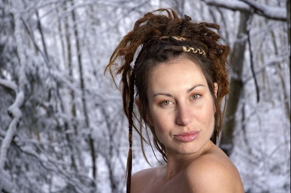 willow chandler blue steel winter snow woman beautiful