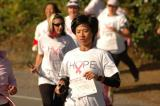 young asian woman hope breast cancer run
